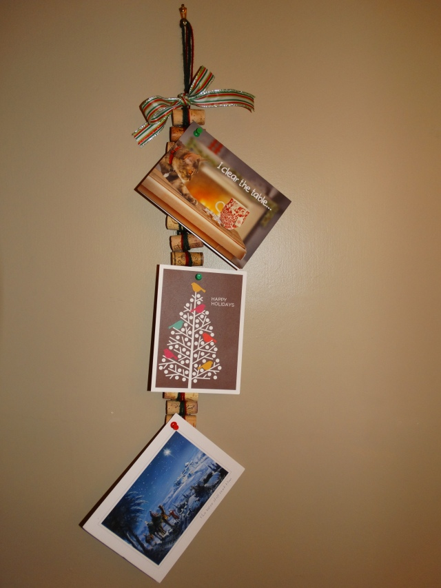 Wine Cork Xmas Card Hanger